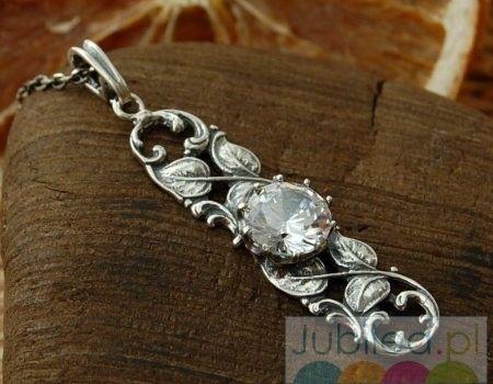 Frodia - srebrny wisior z kryształem