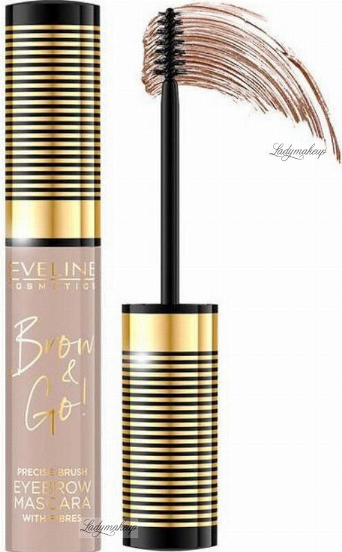 Eveline Cosmetics - BROW & GO Eyebrow Mascara - Tusz do brwi - 05 - TAUPE