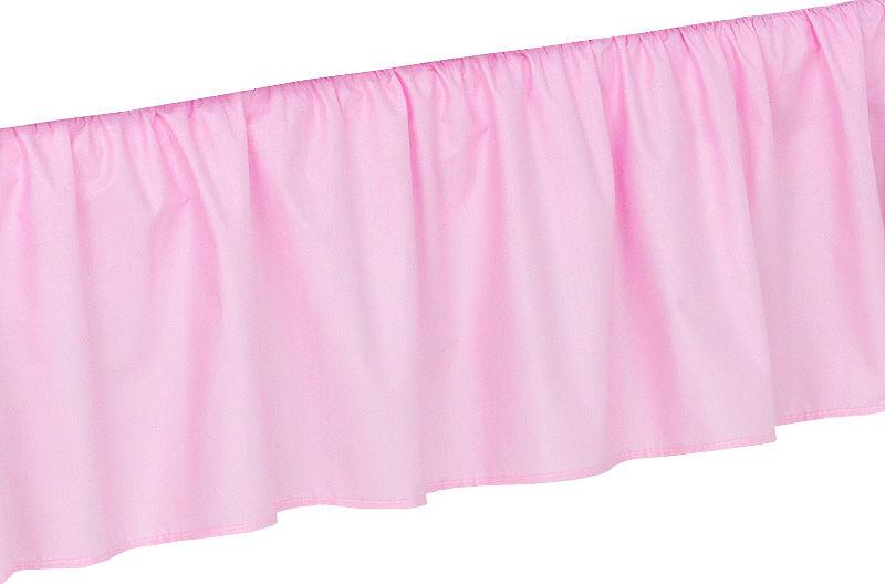 MAMO-TATO Falbanka do łóżeczka 70x140 Różowa