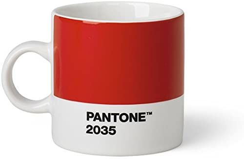 PANTONE kubek do espresso, mały kubek do kawy, drobna porcelana (ceramika), 120 ml, czerwony, 419 C