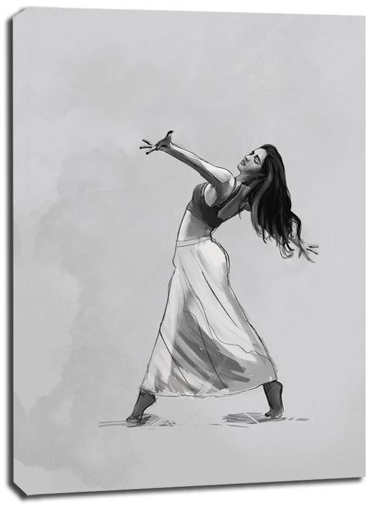 Tancerka - obraz na płótnie wymiar do wyboru: 20x30 cm