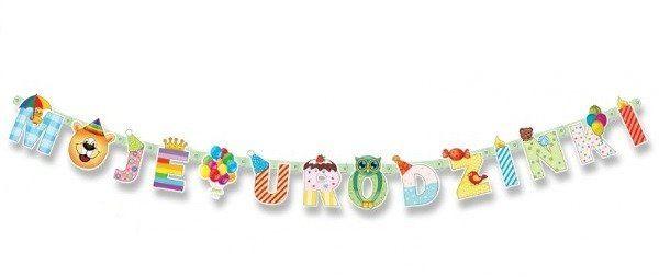 Baner urodzinowy Moje Urodzinki 207cm 1szt. BR21