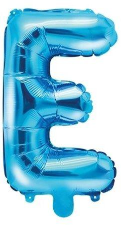 Balon foliowy E niebieski 35cm 1szt FB2M-E-001