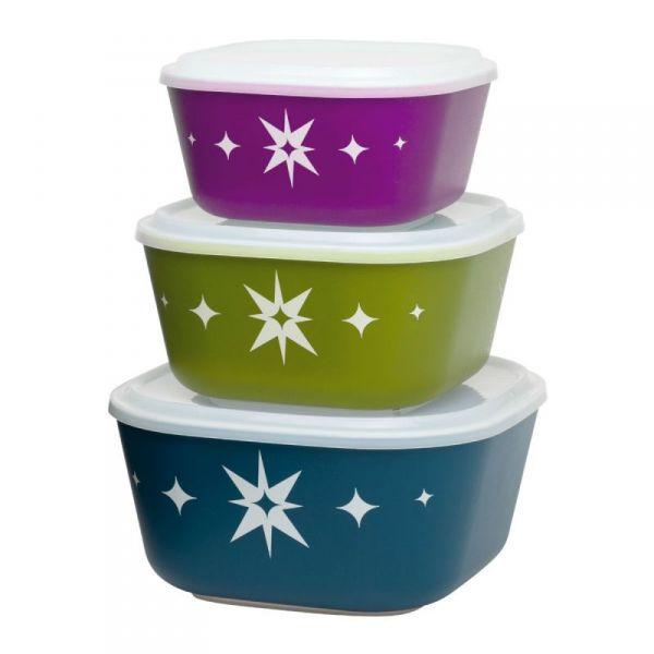 Aladdin - Zestaw 3 Misek do Żywności z Pokrywkami
