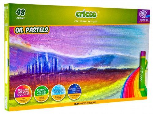 Cricco Kredki / pastele Cricco OIL PASTELS (48 szt. / 48 kolorów / narzędzie do drapania GRATIS)