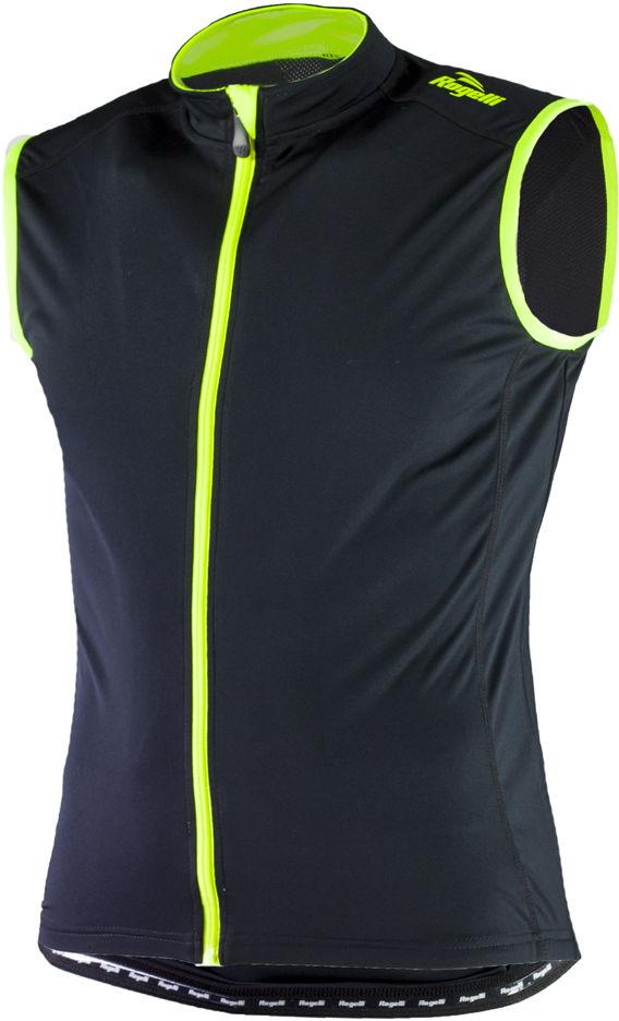 ROGELLI POLLONE - męska koszulka rowerowa bez rękawków 001.036, czarno-fluorowa Rozmiar: S,pollone-001.037-black-fluor