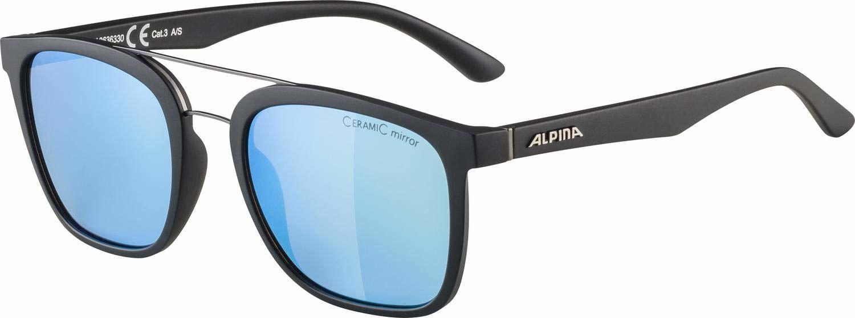 ALPINA Unisex - Dorośli, CARUMA I Okulary przeciwsłoneczne, black matt/blue, One Size