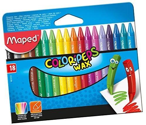 Kredki woskowe Maped COLORPEPS Wax (18 szt. / 18 kolorów)