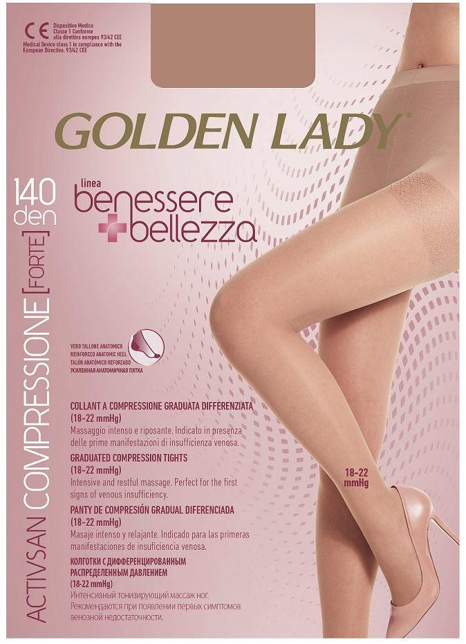 RAJSTOPY GOLDEN LADY BENESSERE BELLEZZA 140 modelujące przeciwżylakowe