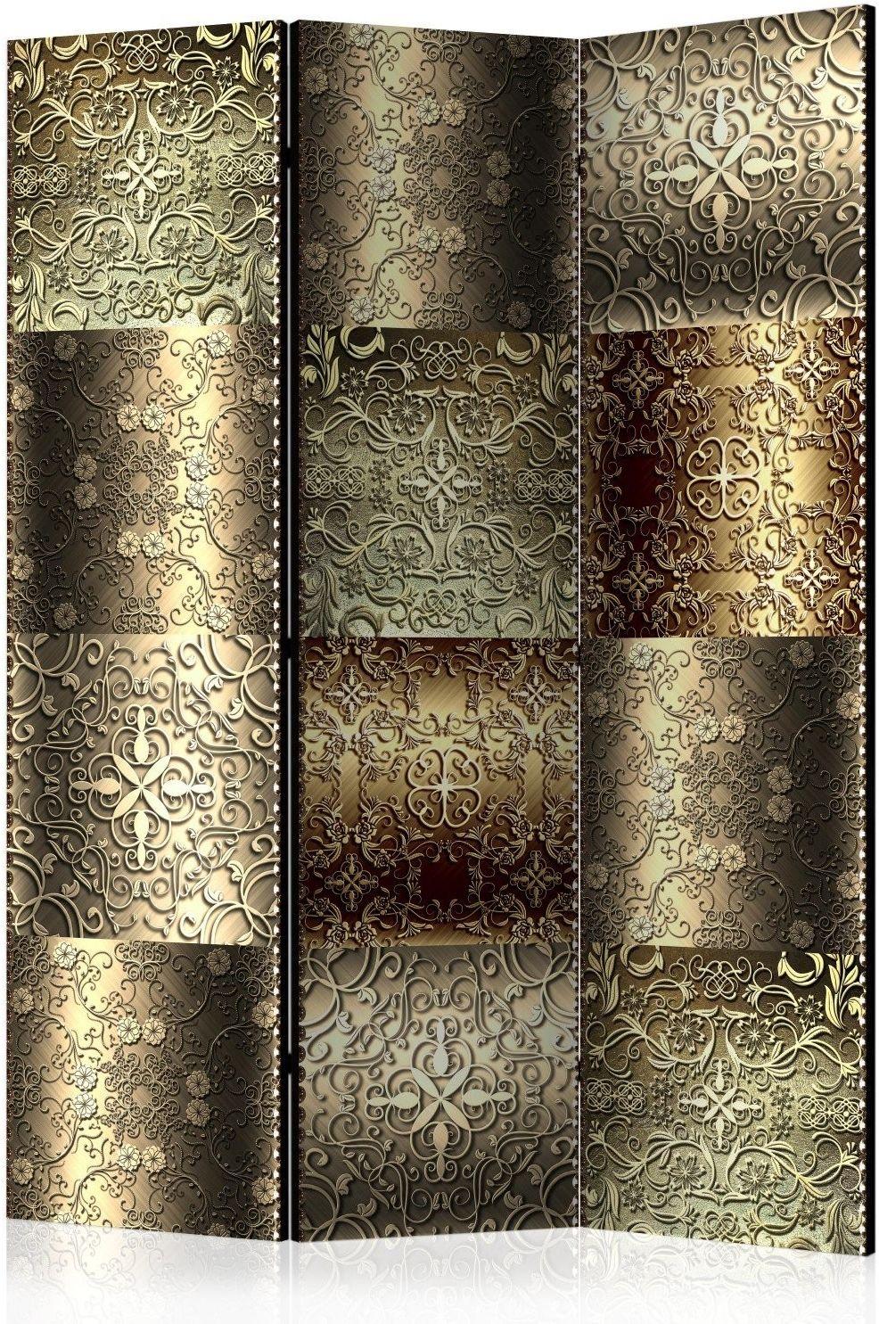 Parawan 3-częściowy - metalowe płytki [room dividers]
