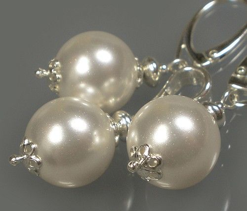 SWAROVSKI piękny komplet SREBRO perły CERTYFIKAT