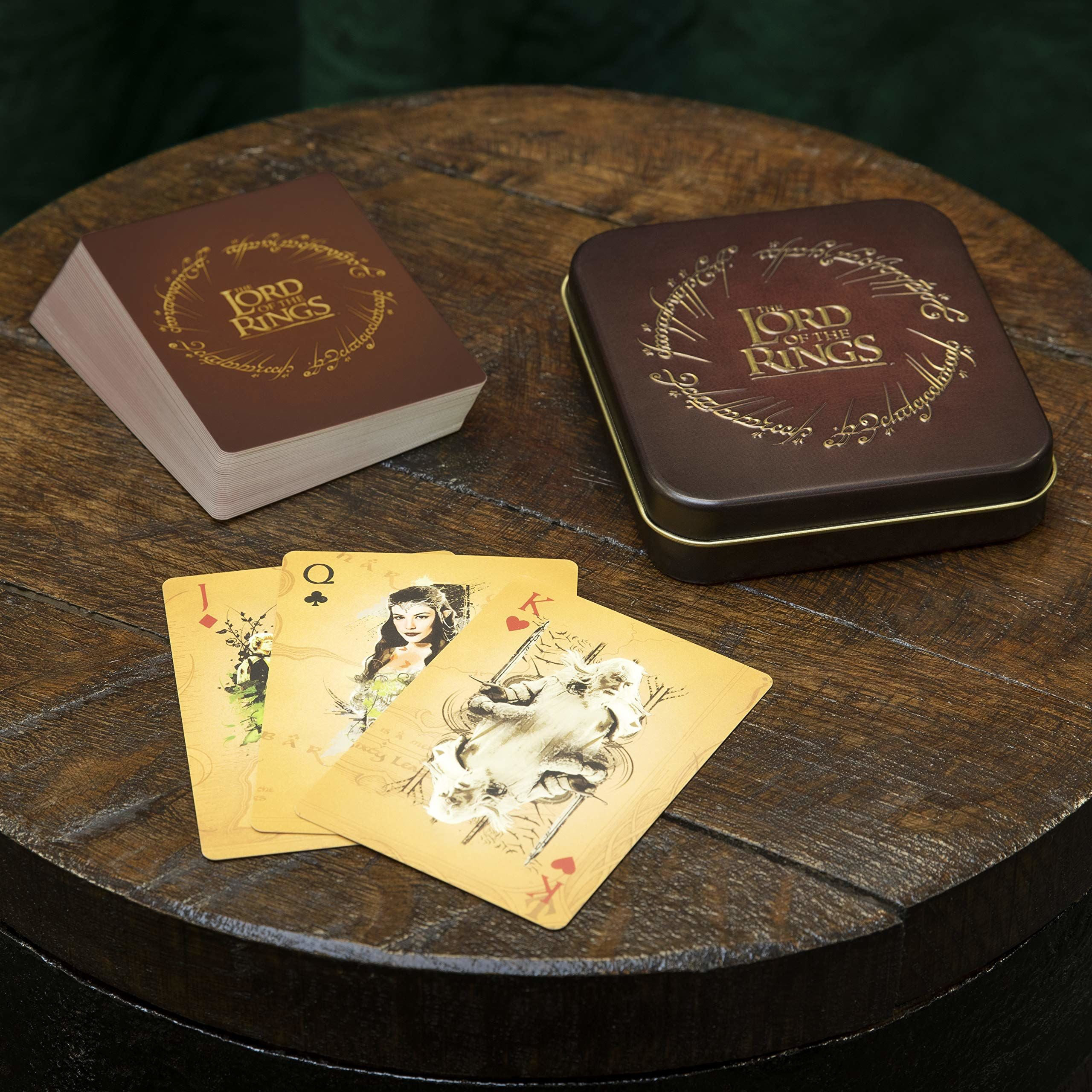 Paladone The Lord of the Rings karty do gry standardowa deska z wytłaczaną blachą