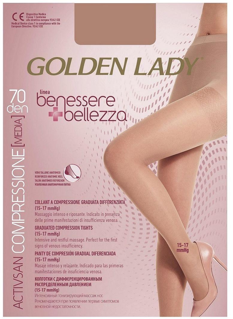 RAJSTOPY GOLDEN LADY BENESSERE BELLEZZA 70 modelujące przeciwżylakowe