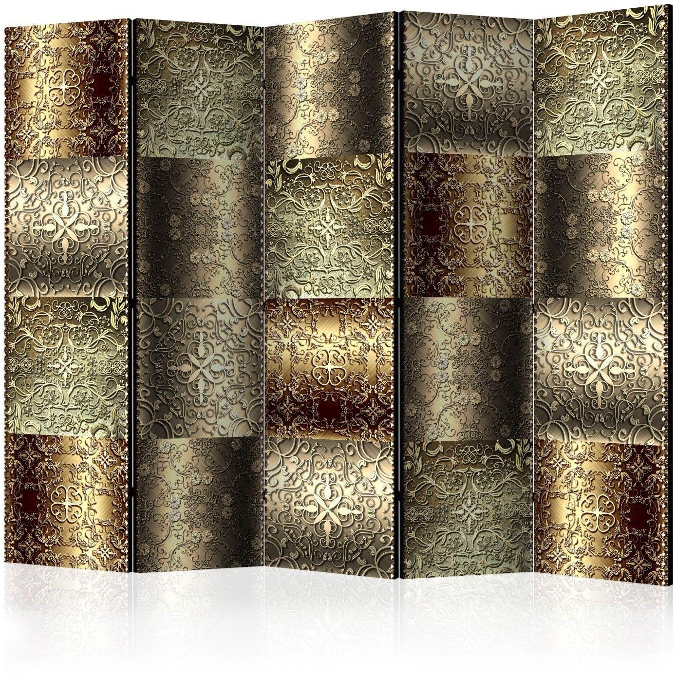 Parawan 5-częściowy - metalowe płytki ii [room dividers]