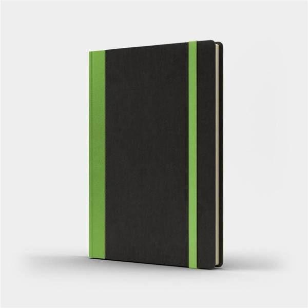 Notatnik A5 Pro M+ gładki czarny/jasnozielony - Like U