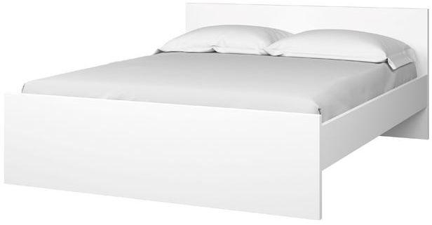 Łóżko naia 140x190 cm biały połysk