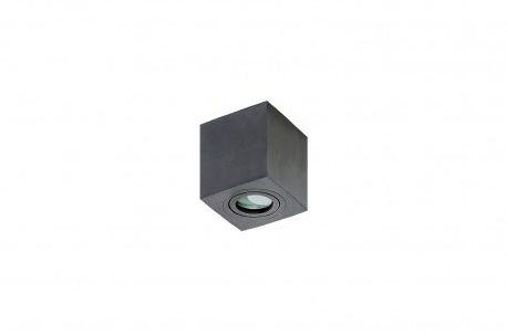 Plafon Brant square IP44 AZ2878 AZzardo czarna oprawa w nowoczesnym stylu