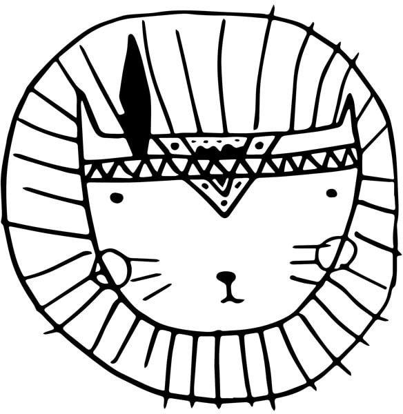 Boho lew - plakat wymiar do wyboru: 21x29,7 cm