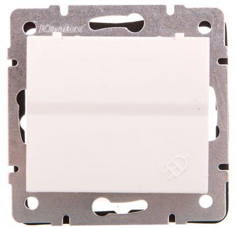 LOGI Gniazdo z uziemieniem IP44 Schuko śrubowy Biały 16A 250V 021230102 25086