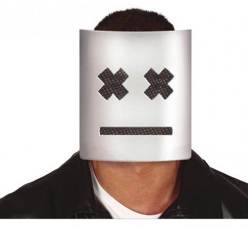 Maska prostokątna, biała z XX-ami