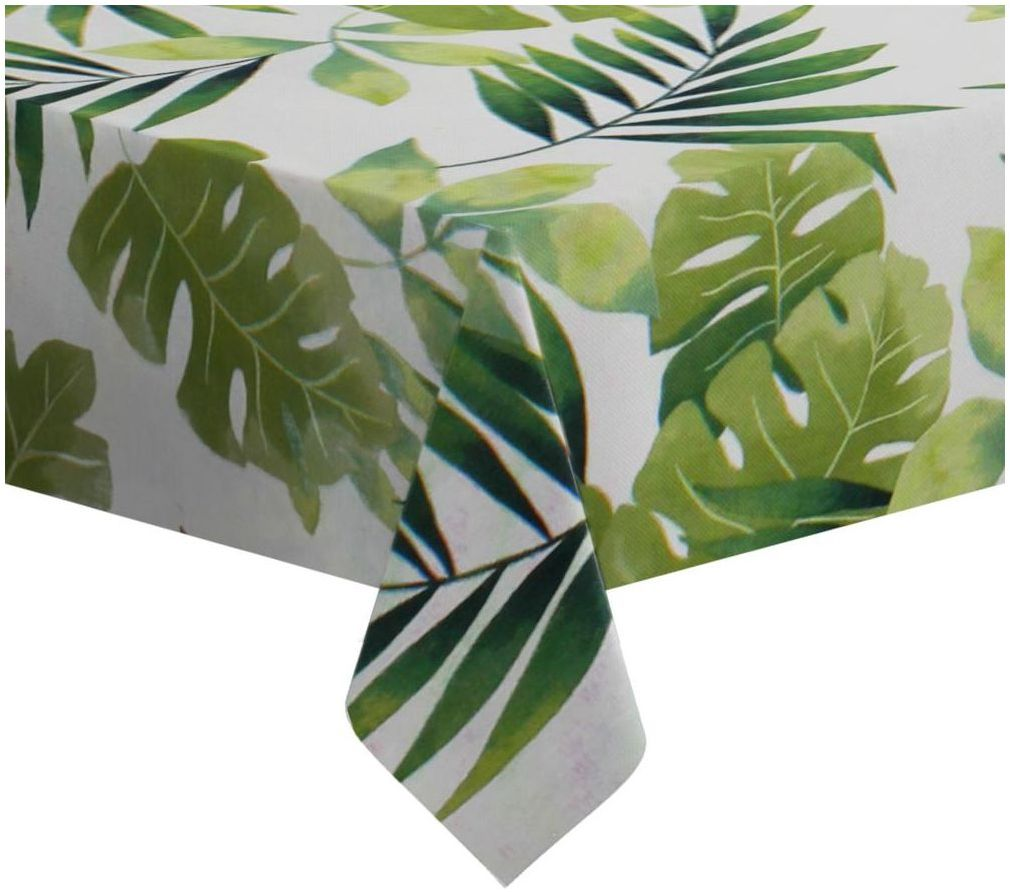 Obrus na stół Green Leaves zielony 110 x 160 cm