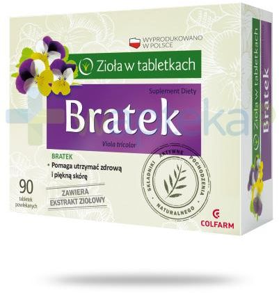 Colfarm Bratek zioła w tabletkach 90 sztuk
