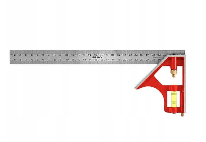 PRO Kątownik nastawny kątomierz z poziomicą 300mm (3-01-05-E1-201)