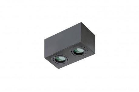 Plafon Brant 2 square IP44 AZ2879 AZzardo czarna oprawa w nowoczesnym stylu