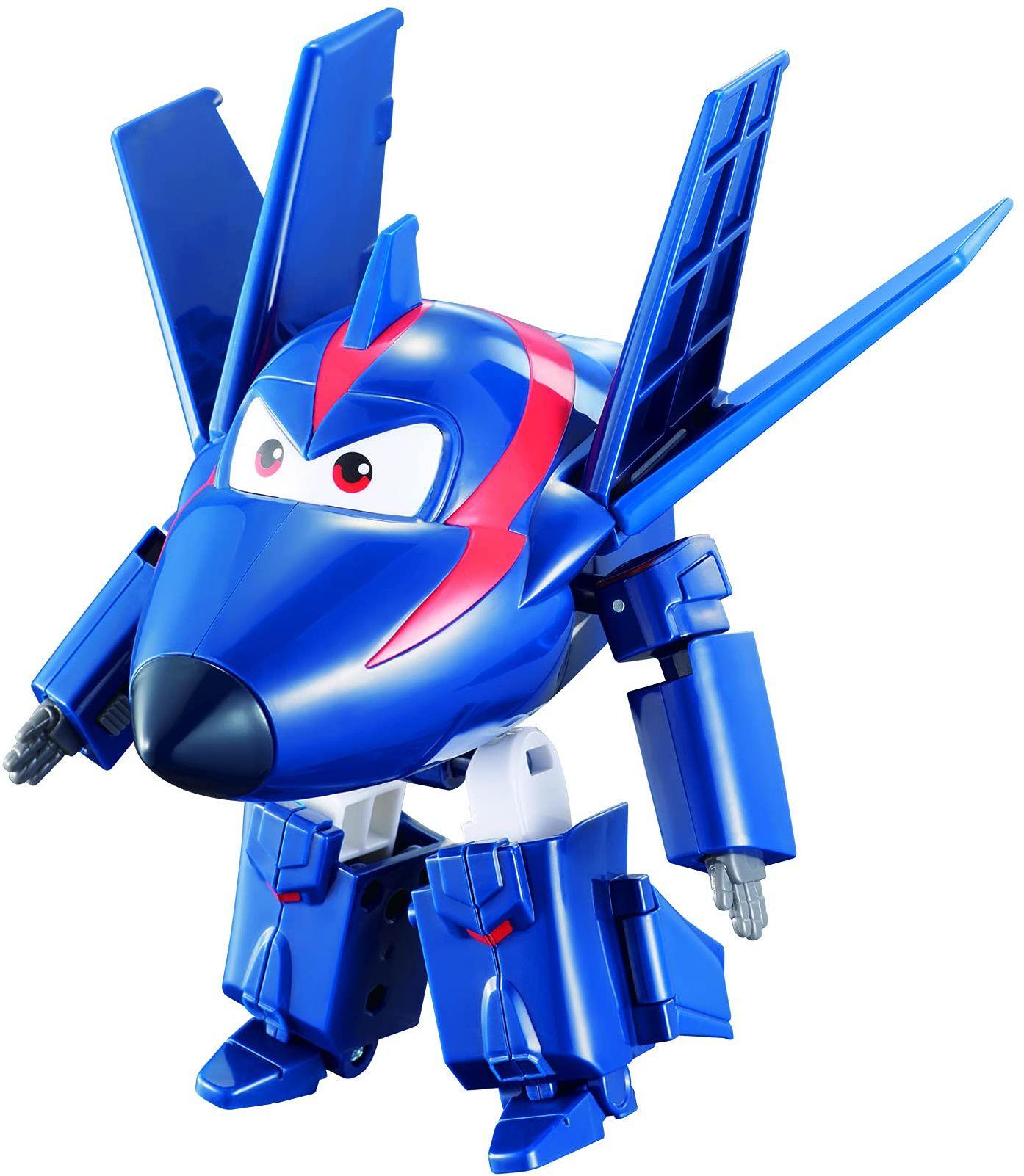Auldey eu720223 Super Wings  transforming Agent Chace z przegubem  sezon 2, 12 cm