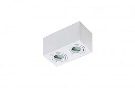 Plafon Brant 2 square IP44 AZ2823 AZzardo biała oprawa w nowoczesnym stylu