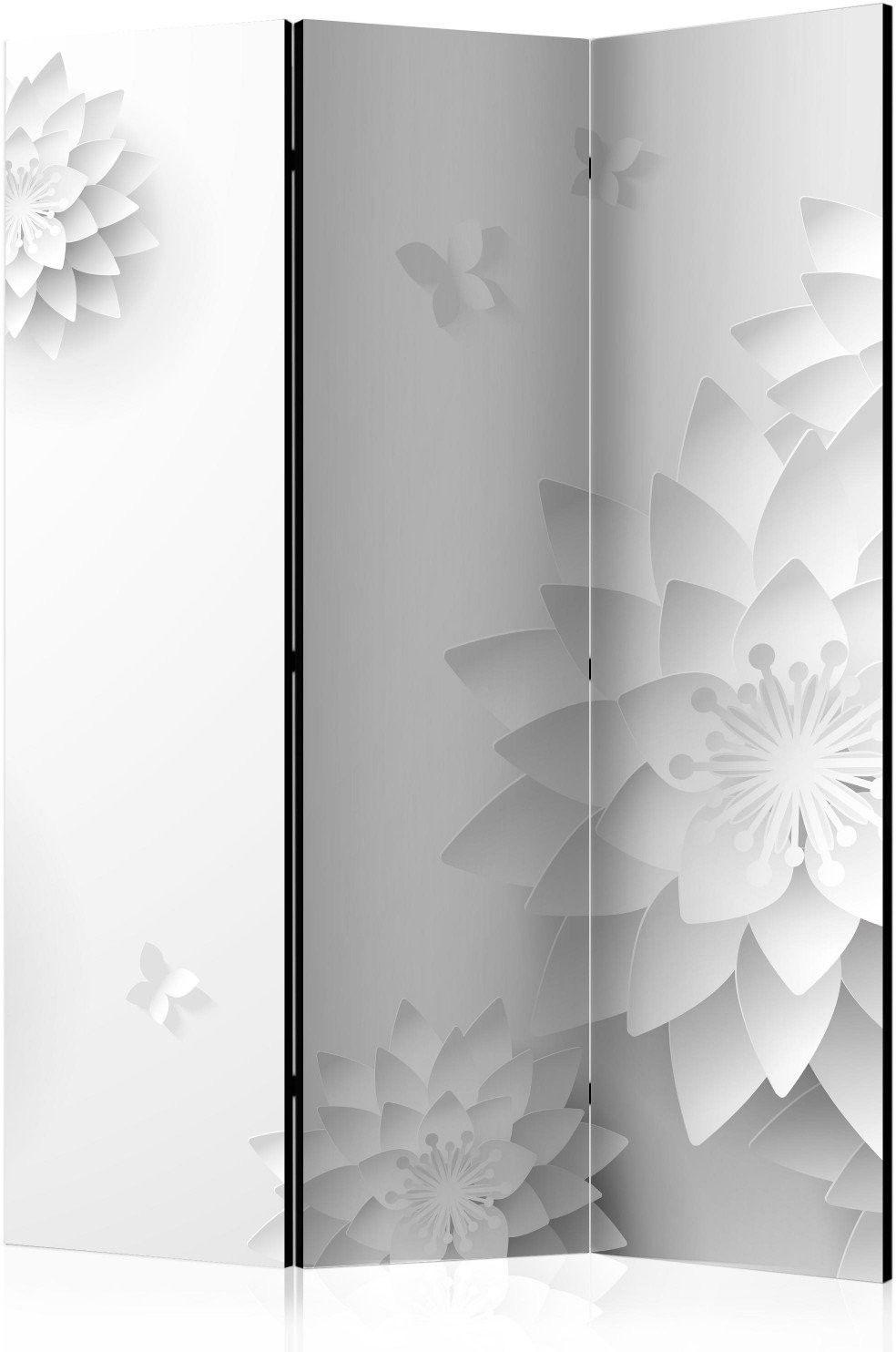 Parawan 3-częściowy - orientalne kwiaty [room dividers]