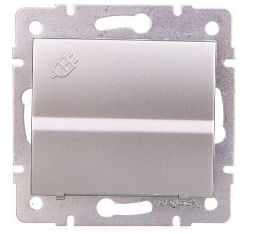 LOGI Gniazdo z uziemieniem IP44 Schuko śrubowe srebrne 16A 250V 021230143 25205