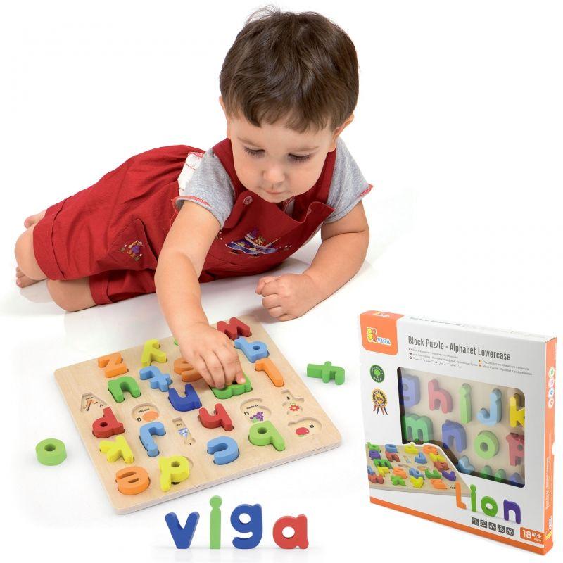 Puzzle Edukacyjne Drewniana Układanka Alfabet Literki Viga Toys LK