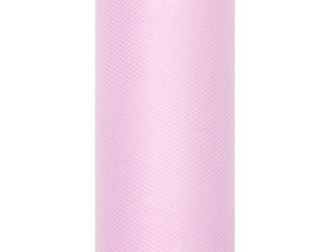 Tiul gładki różowy - 30 cm x 9 metrów - 1 szt.
