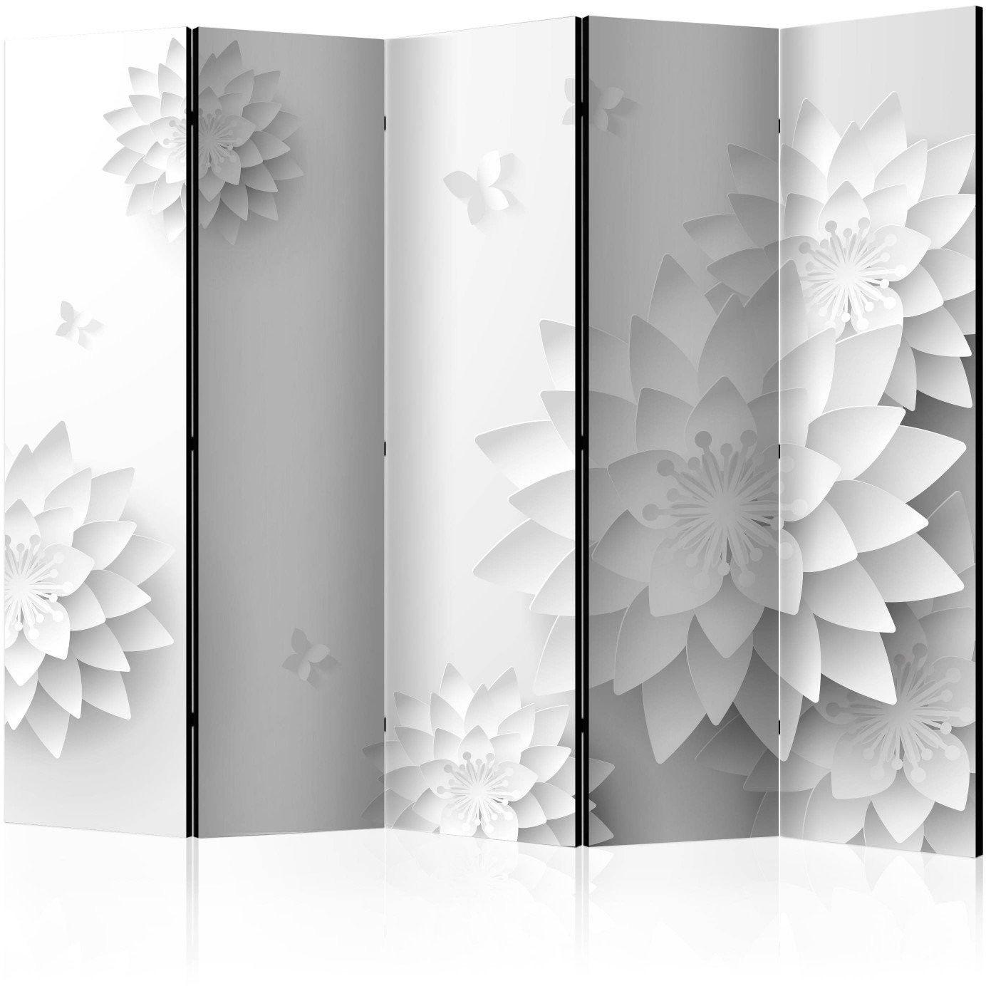 Parawan 5-częściowy - orientalne kwiaty ii [room dividers]