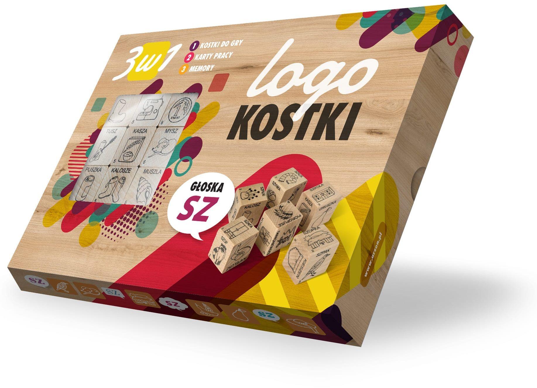 """Logokostki- Głoska """"SZ"""" 3w1"""