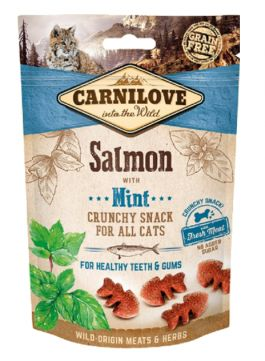 Brit Carnilove Healthy Teeth & Gums Snack Zęby Dziąsła Salmon with Mint Łosoś Mięta 50 g