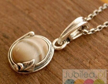 Arco - srebrny wisiorek z krzemieniem pasiastym