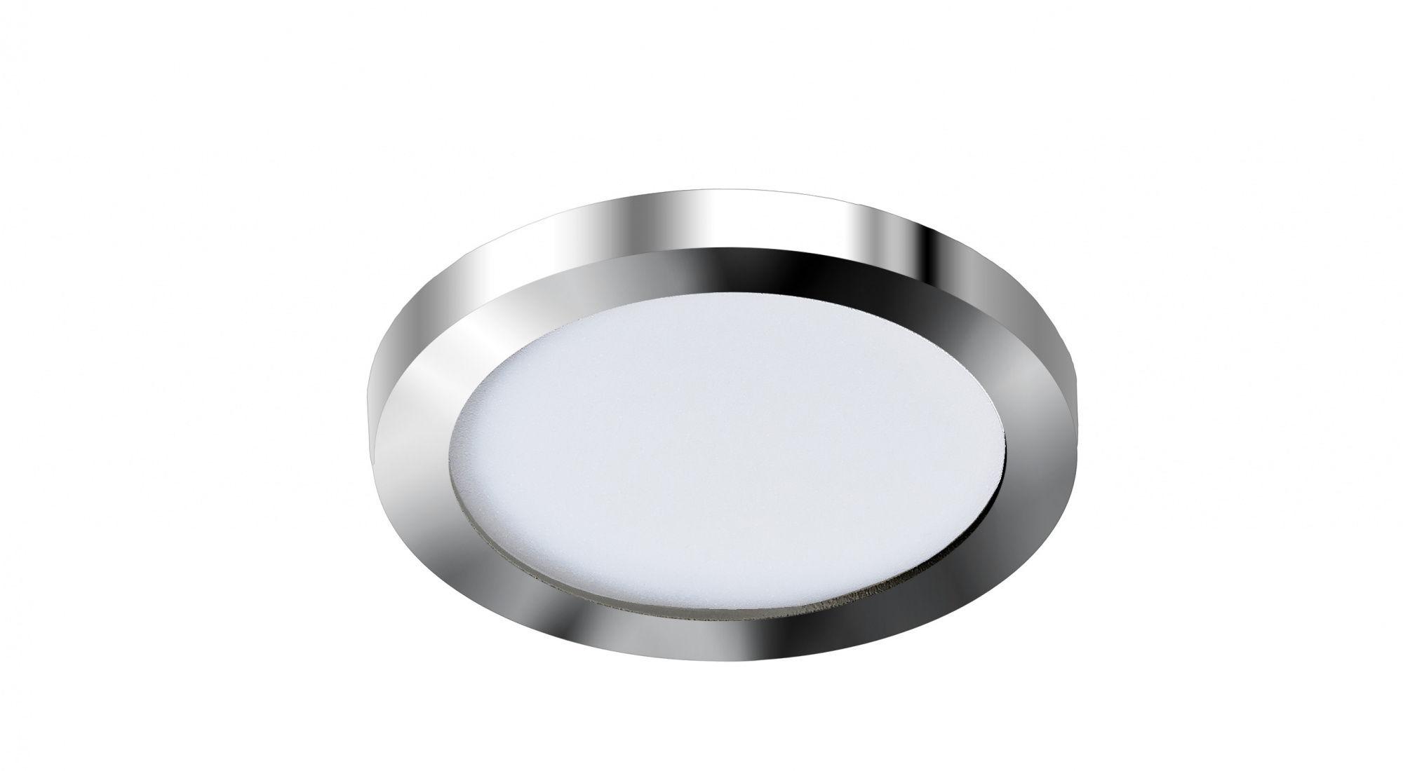 Plafon Slim round 9 AZzardo chromowana oprawa w nowoczesnym stylu