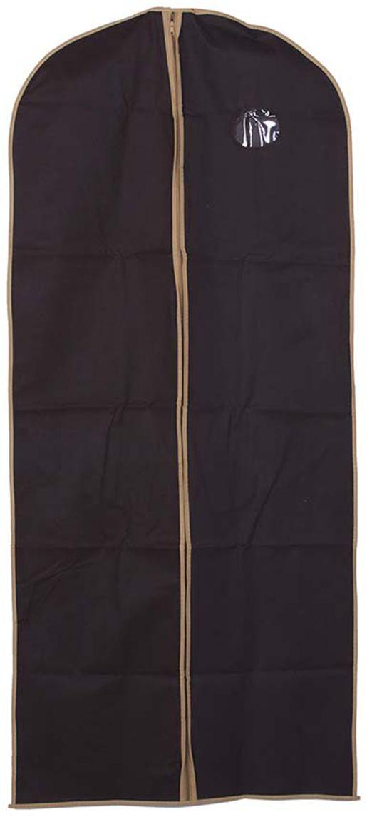 Pokrowiec na ubranie brąz 60 x 137 - Brąz