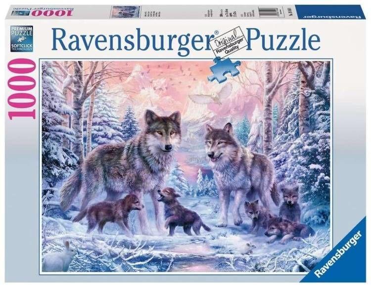 Puzzle 1000 Arktyczne wilki - Ravensburger