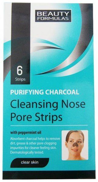 Głęboko Oczyszczające Paski na Nos z Aktywnym Węglem, Beauty Formulas