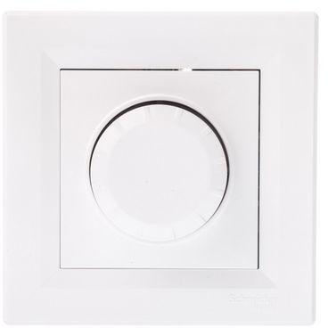 ASFORA Ściemniacz obrotowy RC z funkcją łącznika schodowego biały EPH6600121