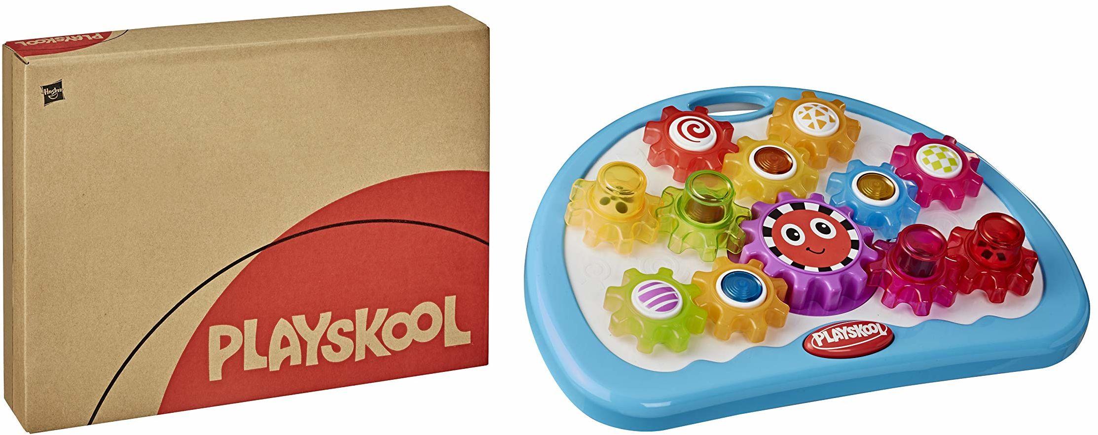 Playskool Zabawa z kołem zębatym, zabawka dla niemowląt i małych dzieci od 12 miesięcy ze światłem, dźwiękami i mi obrotowymi (Amazon Exclusive)