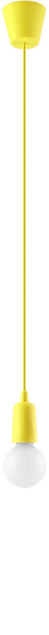 Żółta lampa wisząca w stylu industrialnym - EX541-Diegi