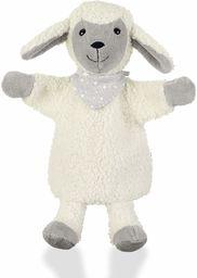 Sterntaler Pacynka z owcą Stanley, idealna do teatru lalek i odgrywek ról, 26 x 21 x 8 cm, biały/szary