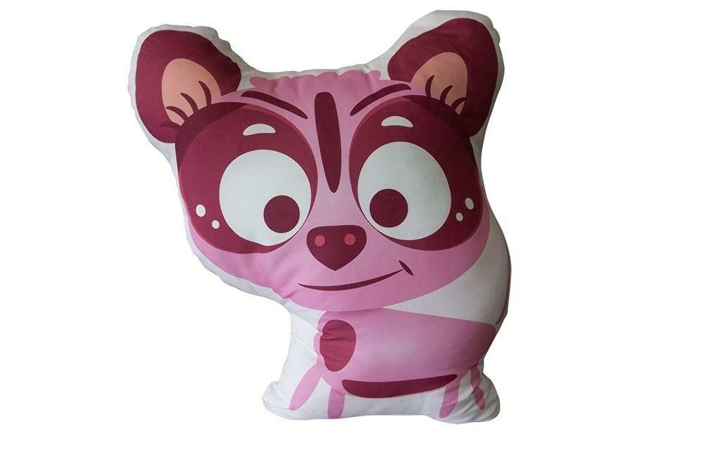 Poduszka przytulanka 40x40 D-100 Piesek pies różowy dog kształtka dekoracyjna