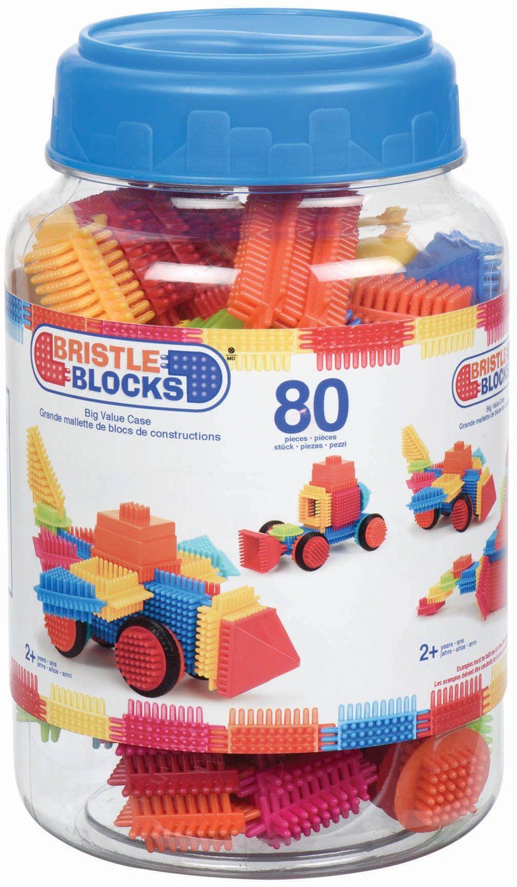 Bristle Blocks 3102Z  skrzynki, 80 sztuk, wielokolorowe