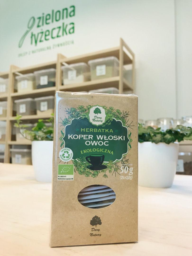 Herbatka Koper Włoski Owoc Ekologiczna