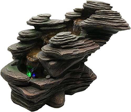 Zen Light SCFR132 rzeka woda cecha natura brązowy kamień 38 x 19 x 25 cm